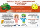 """Campania """"PROTECȚIA SOLARĂ – UN PAS IMPORTANT SPRE SĂNĂTATE!"""" 2021 - protectia solara copii"""