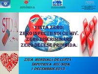 1 decembrie 2015 - Ziua Mondială HIV-SIDA