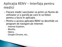 RENV - interfața pentru medici